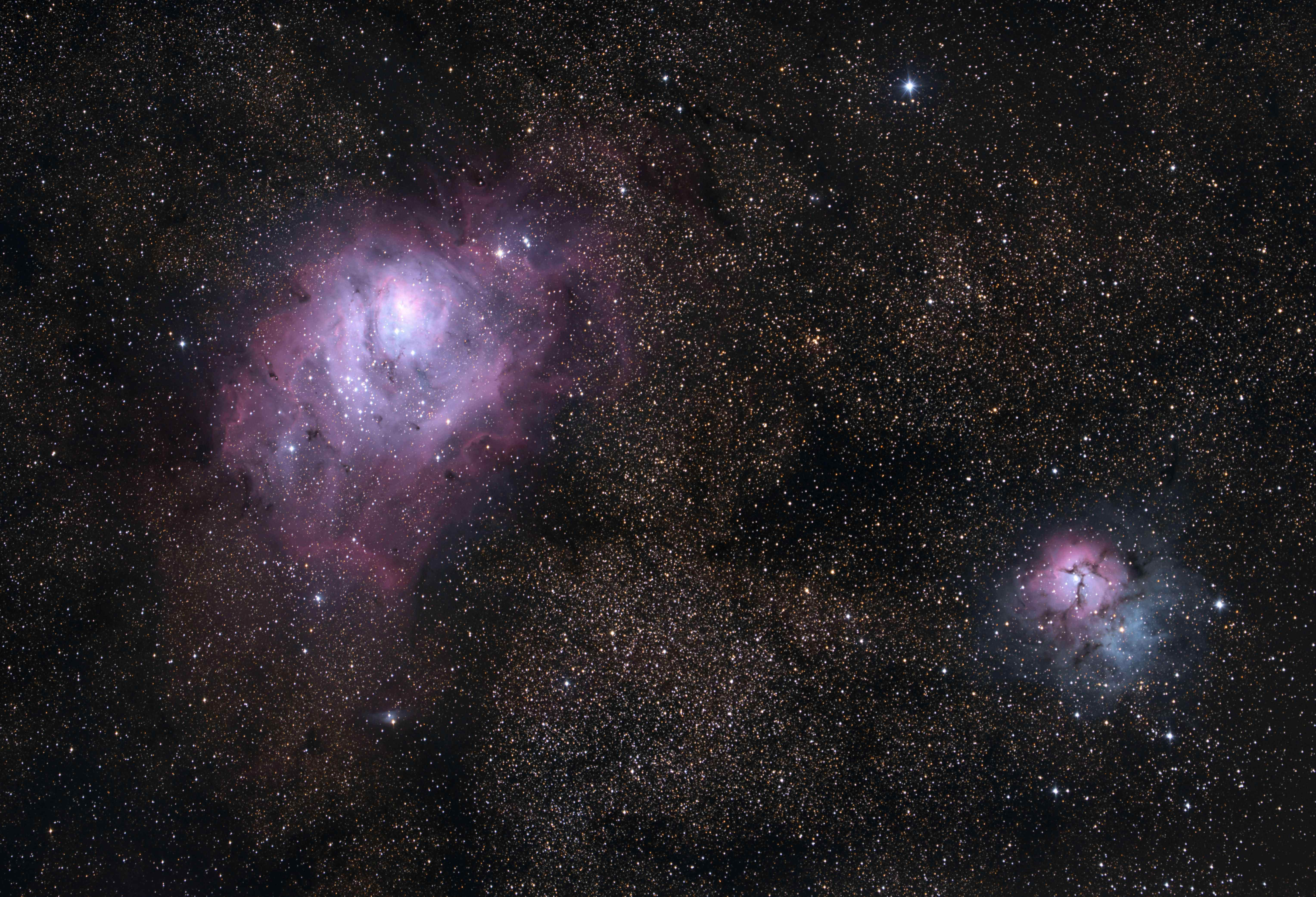 trifid and lagoon nebula - photo #42
