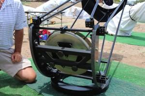 An unusual asymmetric 9 point mirror mount that Joe designed using PLOP software